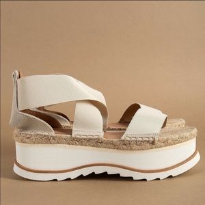 "{Jeffery Campbell} Merez Flatform Sandals $""FIRM"""